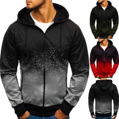 Men/'s Hoodie Zip Up Coat Hooded Sweatshirt Hoody Pleated Jacket Outwear Casual Z