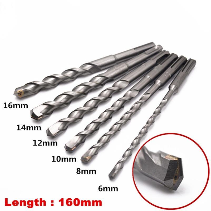 1pc 8*300mm Square SDS Plus Rotary Hammer Drill Bits Concrete Masonry Drill Bits