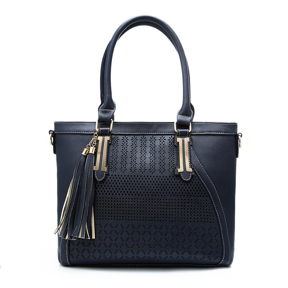7ab1ce842d009 Torby na ramię dla kobiet Duża pojemność Pu Leather Hollow Out Tassel  Handbags - kupić w niskich cenach w sklepie internetowym Joom