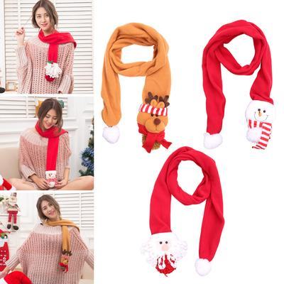 Kids Boys Girls Warm Scarf Wavy Stripes Bohemia Cute Simple Winter Scarves