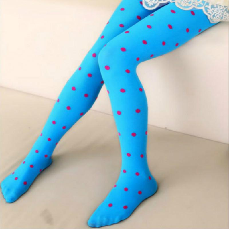 Baby Girls Dots Velvet Tights Stockings Winter Toddler Warm Pantyhose 3-8Y Sock