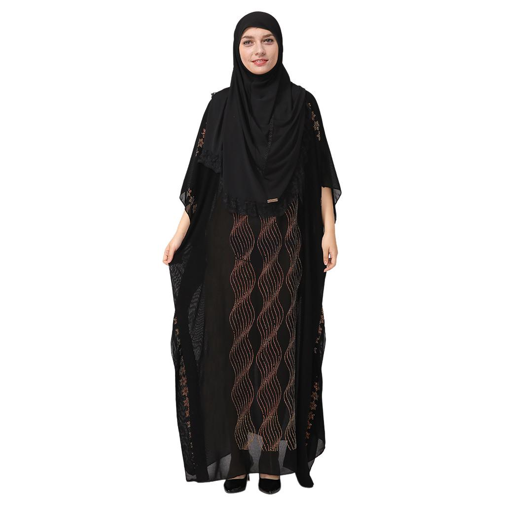 National Robe Women Abaya Islamic Muslim Middle Eastern Long Dress