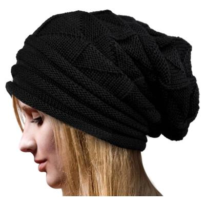 Hilado de lana de mujer Unisex ganchillo invierno sombrero esquí Knit  Beanie gorras calientes de gran 57b803fd9d5