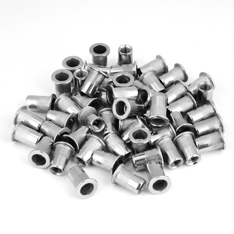 200Pcs Nutserts Rivet Nuts Flange Blind Threaded Stainless-Steel M3//M4//M5//M6
