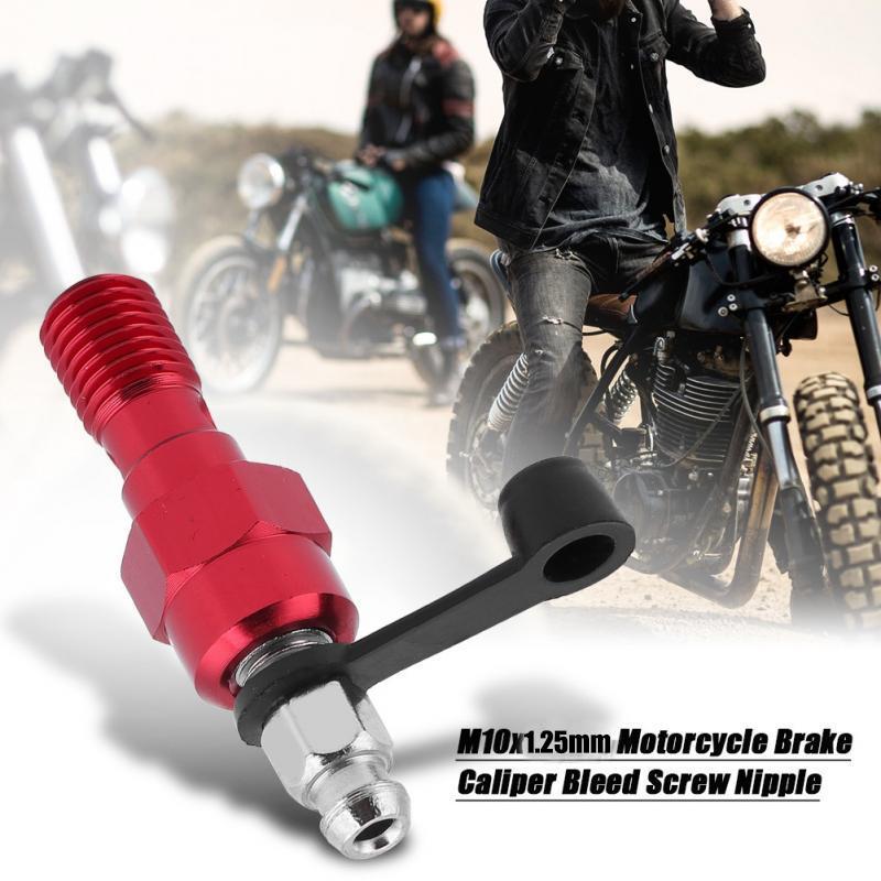 Red//Gold//Silver Banjo Bolt Bleed Nipple Bleed Screw Universal Models M10x1.25mm