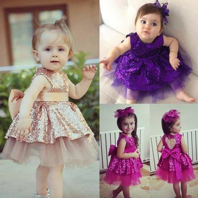 Girl Kids Baby Toddler Sequin Party Princess Slip Dress Tutu Clothes Clothing