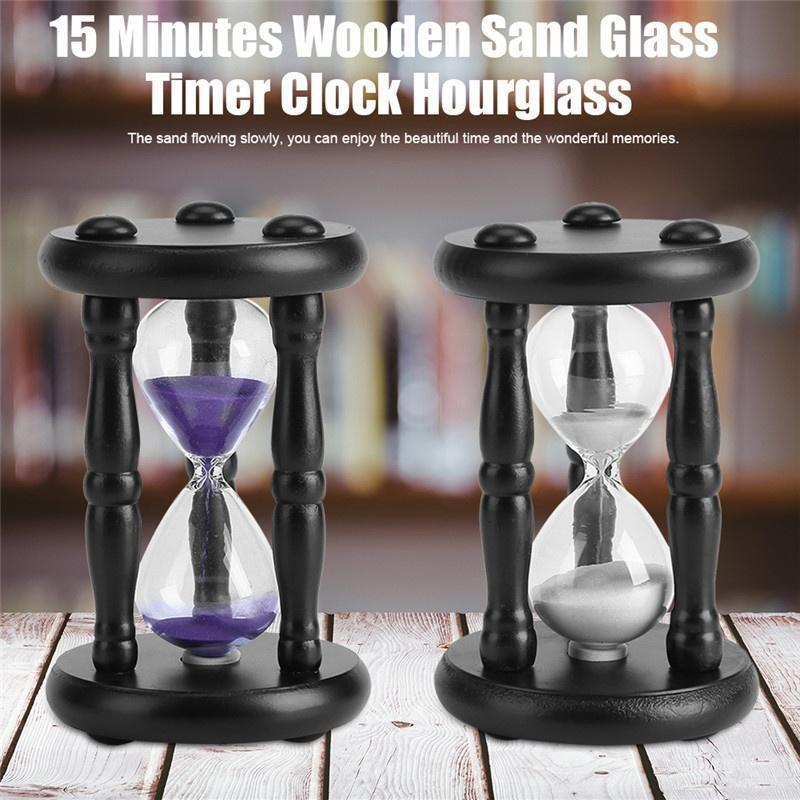 Purple Rotatable Sandglass Sand Clock Timer Home Table Decoration Ornament
