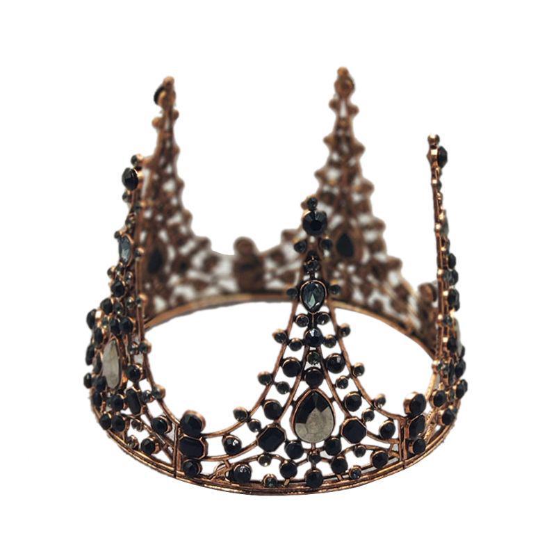 Bride Crown Wedding Tiara Women Headdress Chic Headwear Photography Props Party Women Hair Crown Rose Gold and Pink