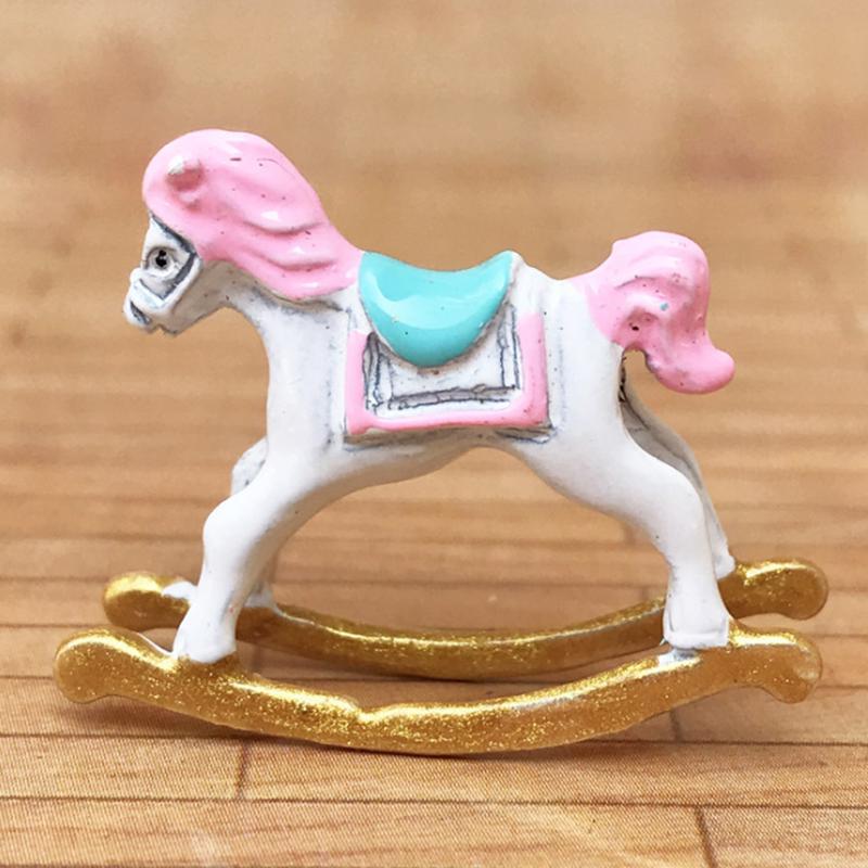 1:12 Dollhouse Miniature Cute Trojan Horse Doll House Accessories Decor Red U5C6