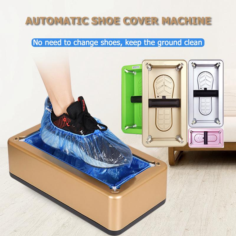 Cleaning Automatic Shoe Cover Dispenser Overshoe Machine Home Office Durable