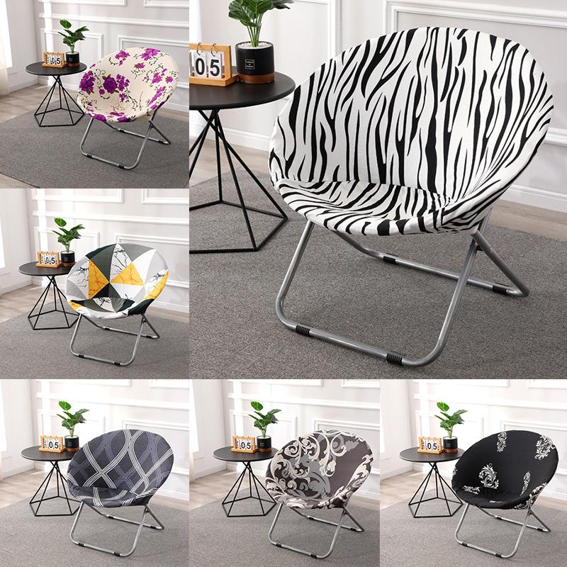 1pc Folding Chair Cover Beach, Round Lounge Chair Covers