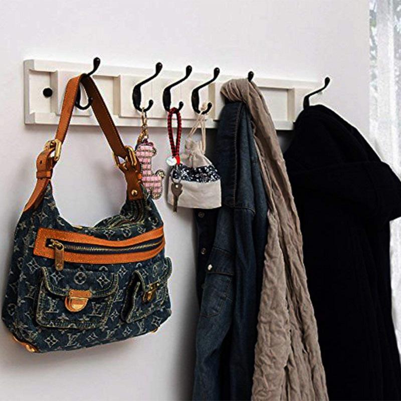 Antique Bronze Bathroom Kitchen Wall Hooks Coat Rack Hat Towel Clothes Key Hook