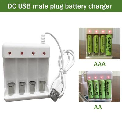 Usb Battery Charger Smart 4 Slot Aa Lithium Rechargeable