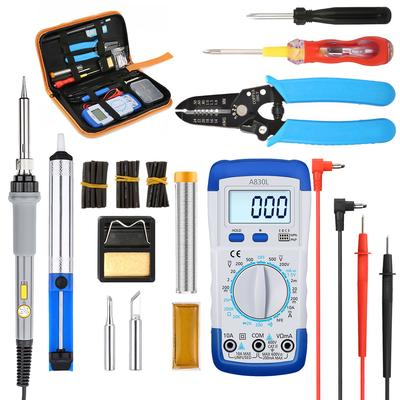 Electric Soldering Iron Adjustable Temperature 80W Welding Set Tool Kit 110//220V