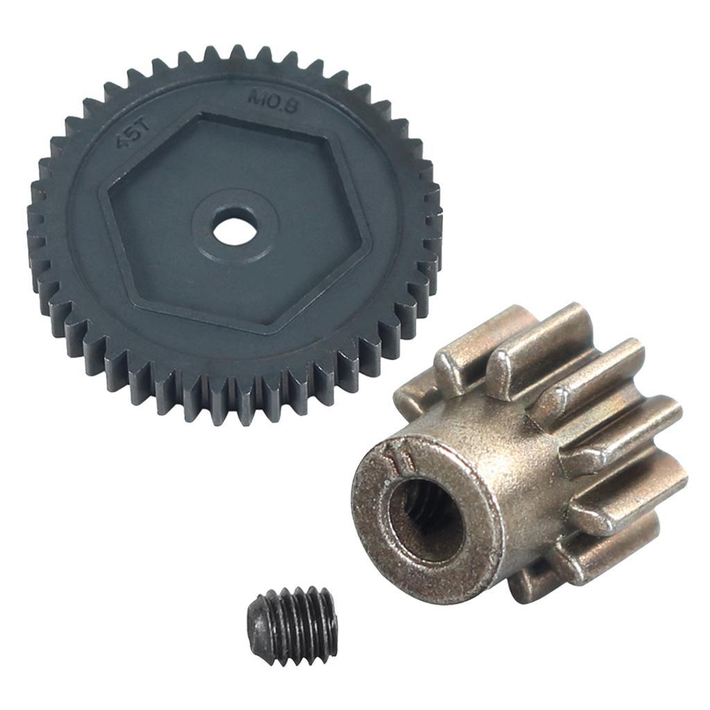 Steel Spur Gear 45T 0.8M 11T Motor Teeth Fits RC Crawler Car Traxxas TRX-4 TRX-6