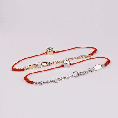 Crystal jewelry thin red wire string rope Charm Bracelets & bangles ...