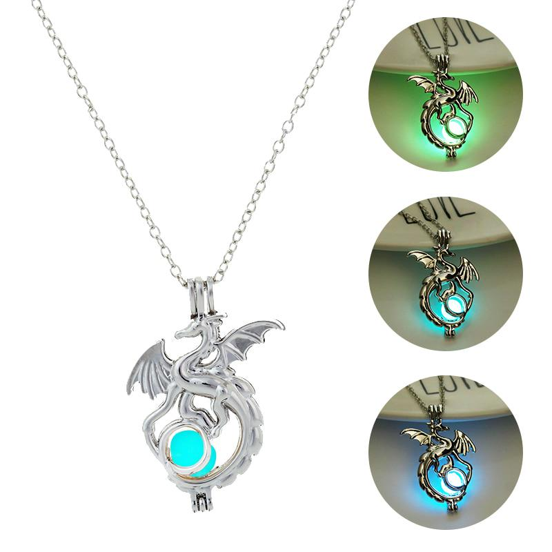 Dragon Necklace Silver Dragon Jewelry Gift for Men Women