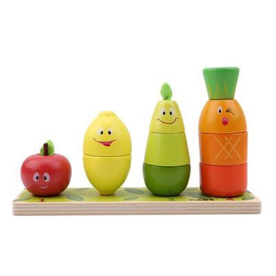 Ahsap Egitici Oyuncak Okul Oncesi Meyve Sekil Renk Tanima