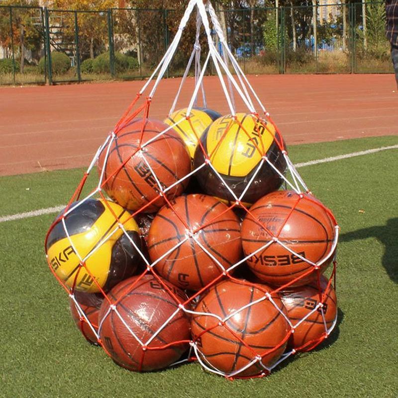 New Sale 5pcs Nylon Net Bag Ball Carrier For 1 Volleyball Basketball Football Soccer Office & School Supplies