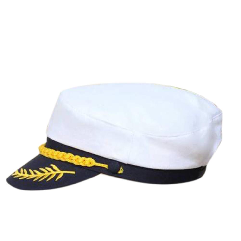 8923759d Unisex Skipper Ship Sailor Navy Yacht Military Captain Nautical Hat ...