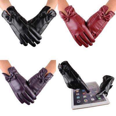 95ce3a814c0e78 Frauen Leder wasserdicht fahren voll Finger Handschuhe Touchscreen Handschuh  perfektes Geschenk