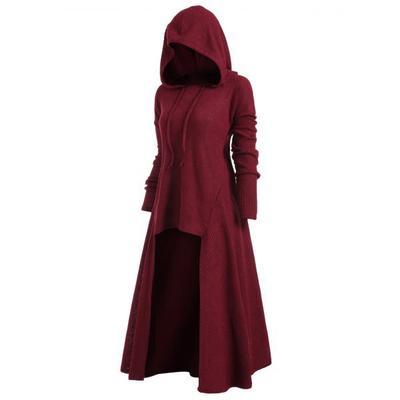 IEason Womens Hooded Cloak Vintage Plus Size Long Long Sleeve Lace-up Tops Blouse