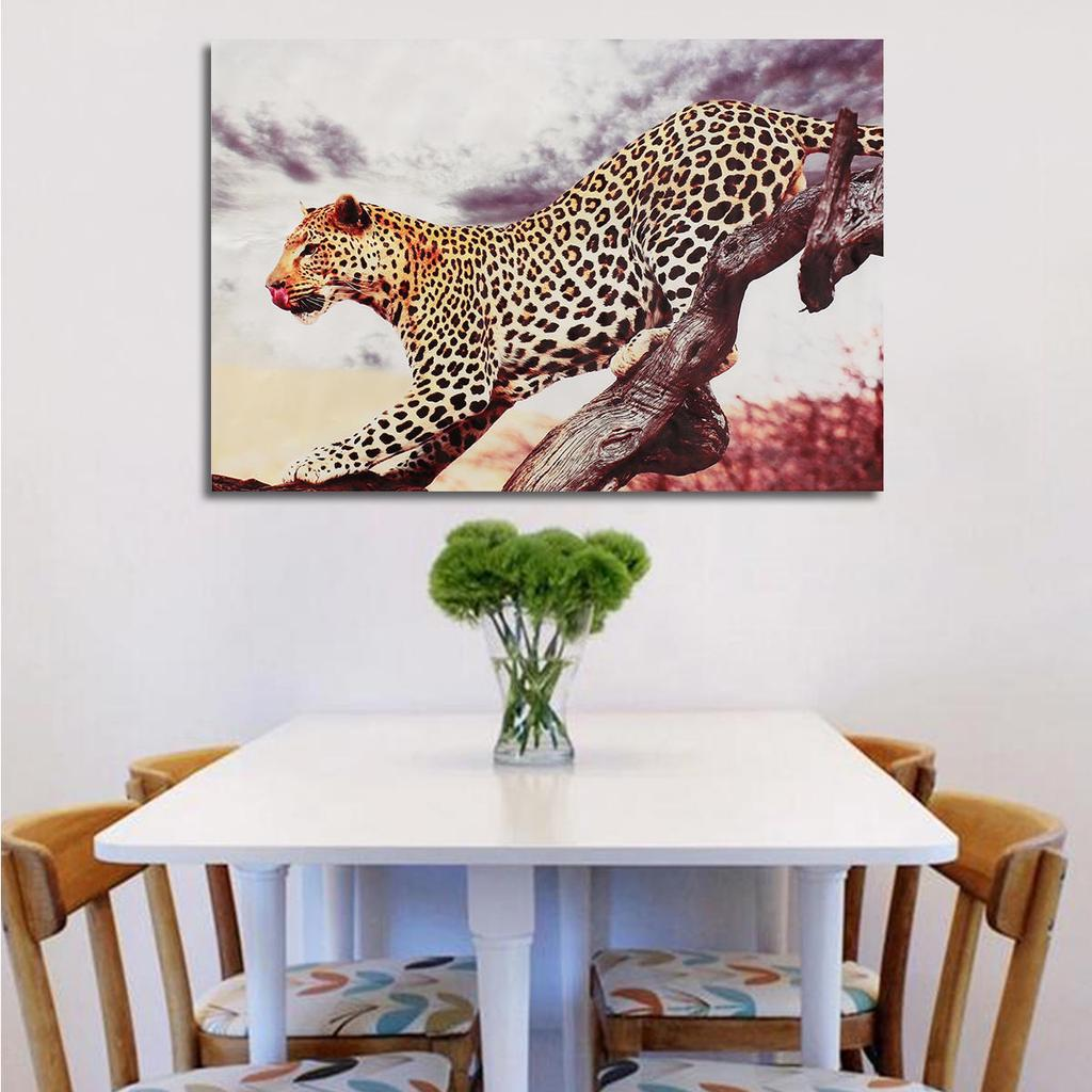 Leopard Tier moderne ungerahmt Leinwand malen dekorative Wand-Kunst ...