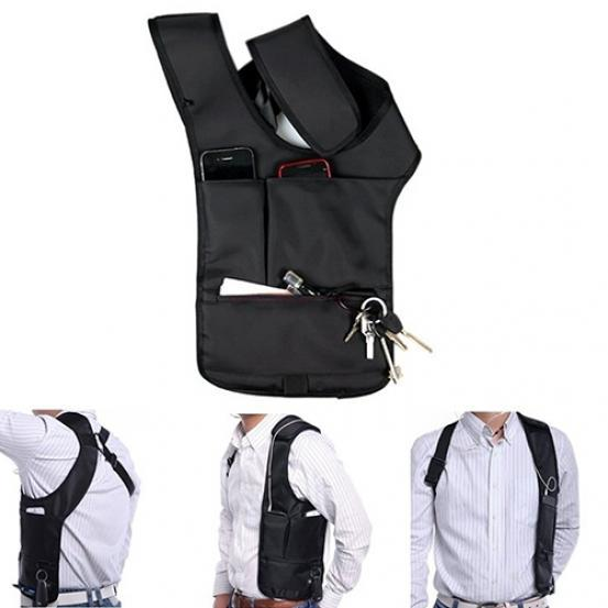 Men Women Bag Phone Pouch Bag Hidden Anti Theft Underarm Shoulder Burglarproof