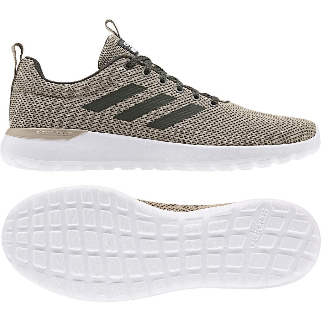 Adidas Sneakers Lite Racer Cln Men Khaki Green and White, Size: 42 Adidas Originals Sneaker