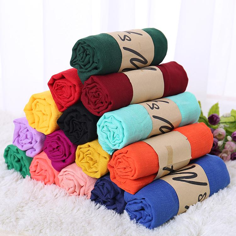 Women Plain Bubble Chiffon Scarf Hijab Wrap Printe Solid Color Shawls Headband Muslim Hijabs Scarves Buy From 3 On Joom E Commerce Platform
