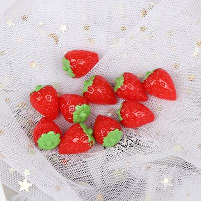 2X Miniature Artificial Strawberry Resin Cake Dolls House Miniature Food 1//12 TO