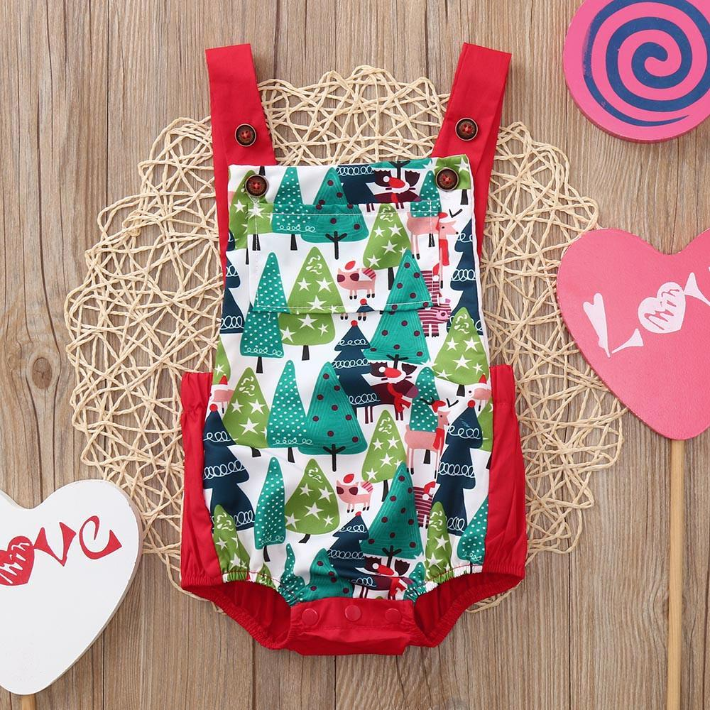 Tronet 3PCS Christmas Toddler Baby Letter Print Romper+Skirt+Headbands Set Outfit