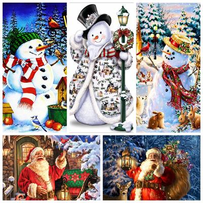 30*40cm Santa Claus Full Drill 5D Diamond Painting Embroidery DIY Cross Stitch