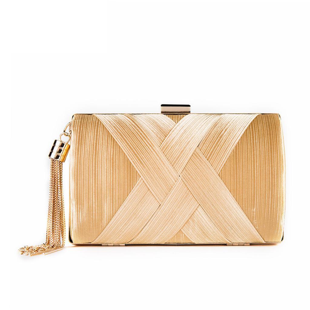 Lace Box Clutch Bag For Women Ladies HardCase Evening Handbag Designer New Chain