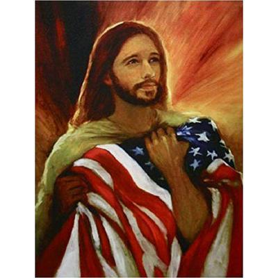 5D DIY Full Drill Diamond Painting Jesus Cross Stitch Kits Mural Art Wall Decors