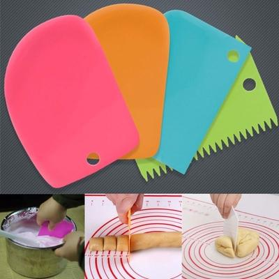 3pcs/Set Dough Cutter Cake Bread Slicer Baking Pasty Tools Scraper Cake Blade Spatula 16Z