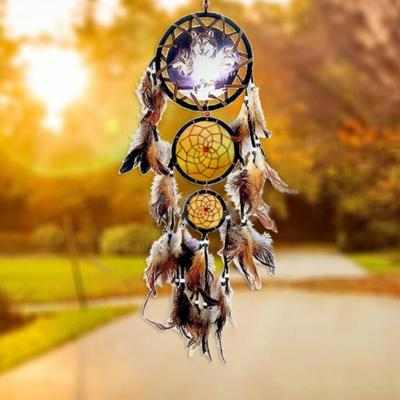 New Indian Wall Hanging Heart Dream Catcher Feather Dreamcatcher Home Decoration