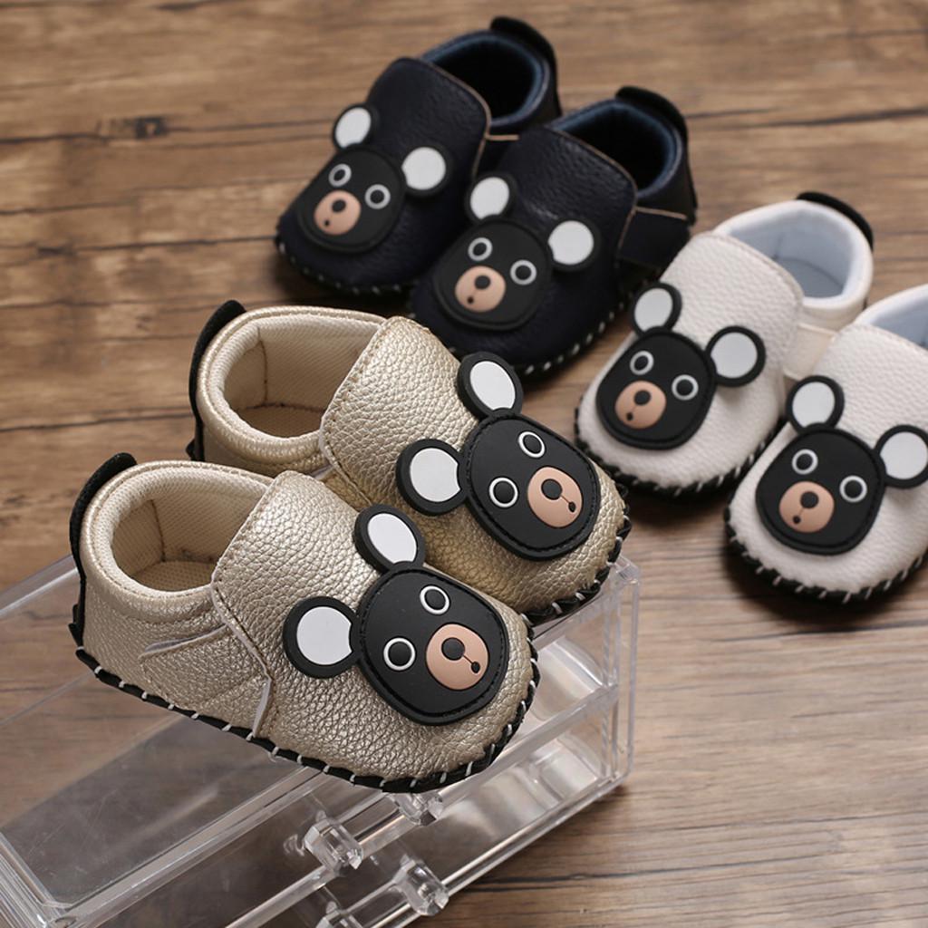 Fox Striped Infant Toddler Baby Boy Girl Soft Anti for Infant Toddler Boys Girls Anti-Slip Sole Prewalker Shoes Grey 13cm