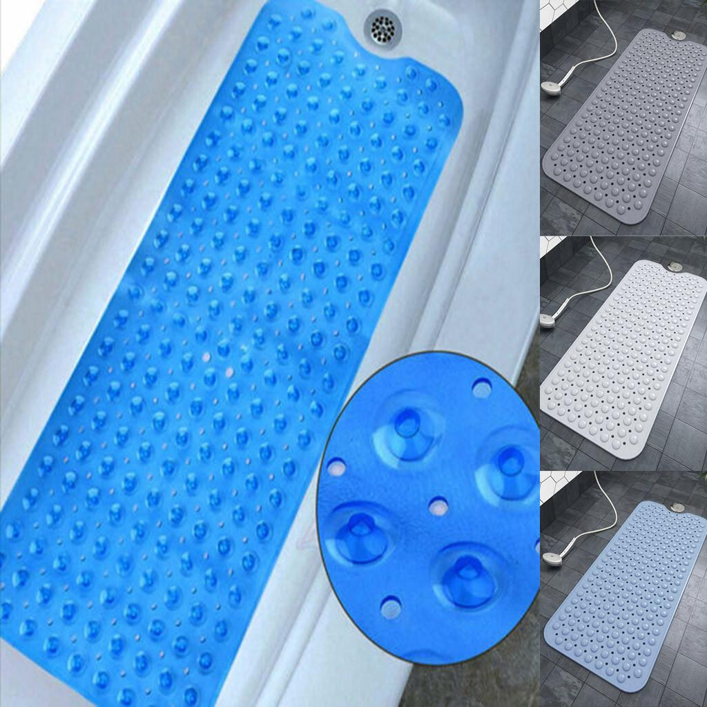 Large Round Strong Suction Anti Non Slip Bath Shower Mat PVC Foot Massage UK
