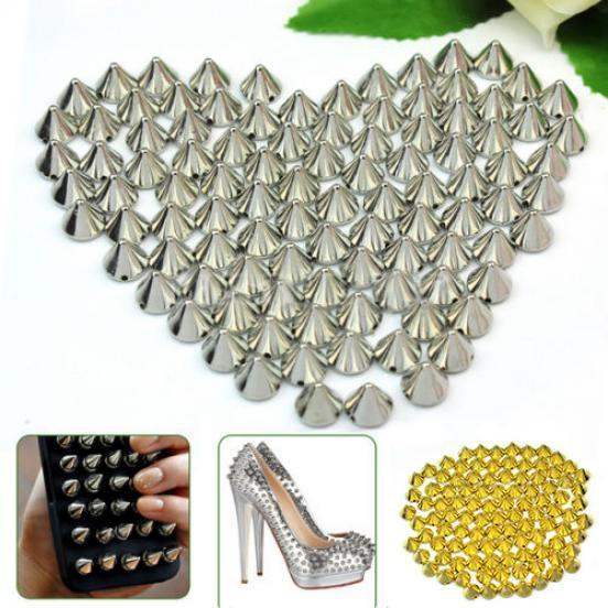 100Pcs Metal Round Leather Craft Belt Bag Accessory Rapid Rivet Spike Stud 10mm