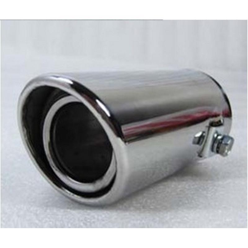 1Pcs 62mm Titanium Bend Muffler Tail Throat Black Universal For Car Exhaus Pipe