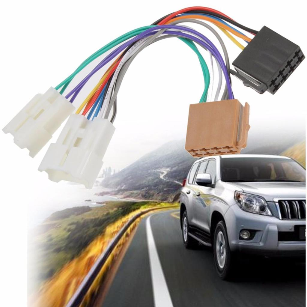 12v Stereo Iso Radio Wiring Harness Connector Adapter Adaptor Wire Toyota Avensis Car 1 Of 6
