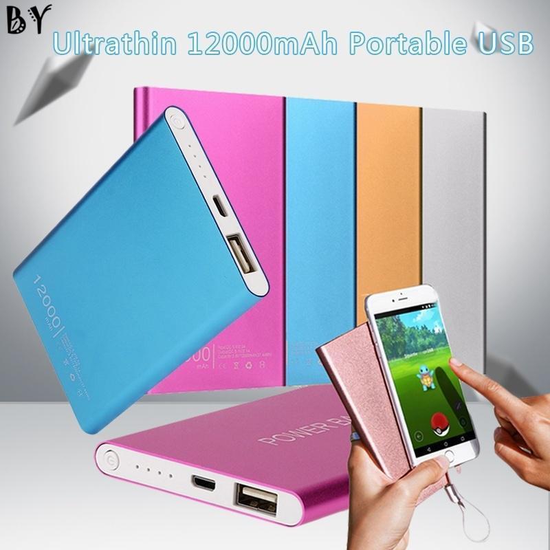 Популярные Ultrathin 12000mAh Портативный USB Внешний Аккумулятор Зарядное устройство Power Bank для телефона