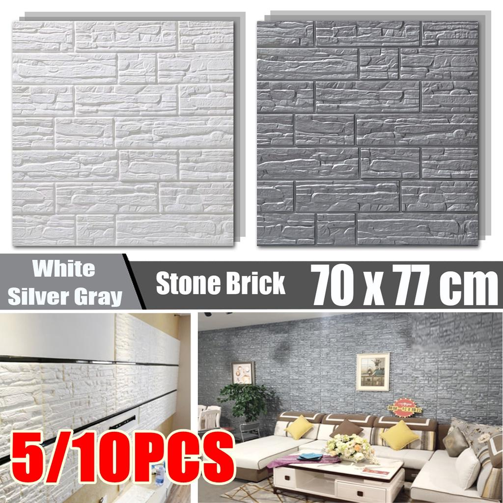 1M Self Adhesive Wallpaper Non Woven Fabric Waterproof Solid Decal Home Decor