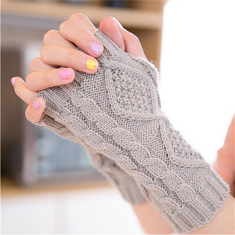 Moda Unisex hombre mujer brazo calentador Fingerless guantes largos ...