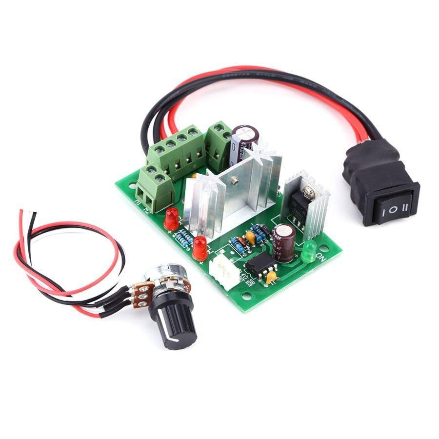 1//5 Mini courant continu 5 A motor PWM Régulateur de vitesse 3V-35V Speed Control Switch DEL Dimmer
