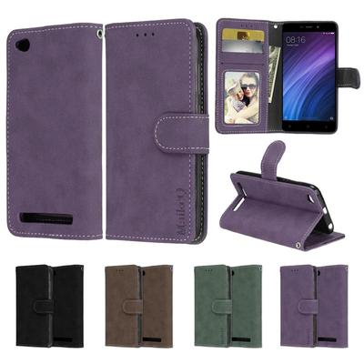 Simple Matte PU Leather TPU Phone Case Bracket Photo Frame Wallet for iPhone Samsung Huawei Xiaomi Nokia