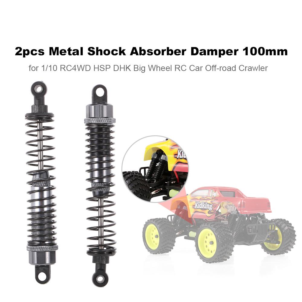 2pcs 1:10 RC 100mm Upgraded Alloy Shock Absorbers for HSP Traxxas Axial Tamiya