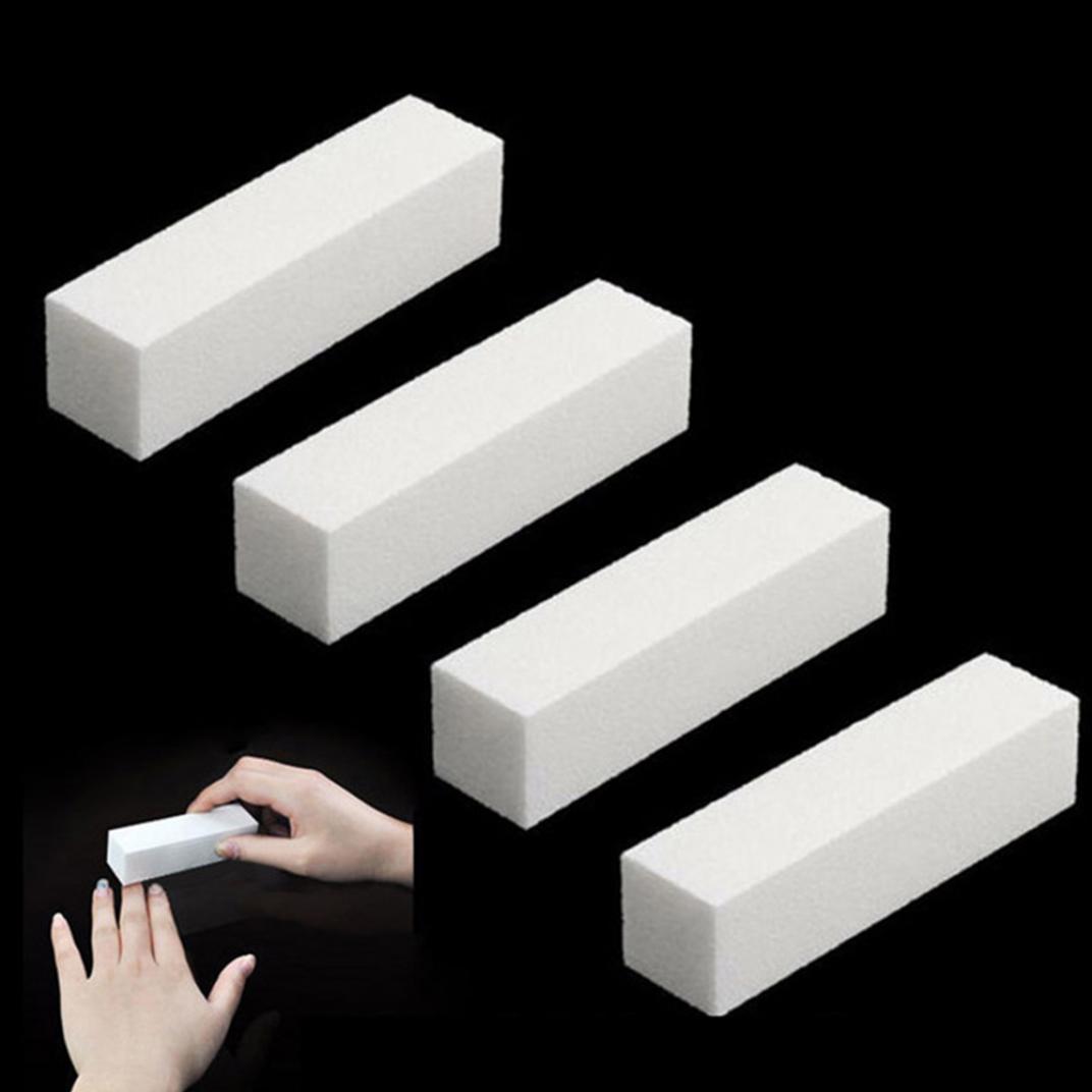 Пилка для ногтей буфер блок шлифовальный Губка УФ гель DIY искусства маникюра полировщик инструмент фото