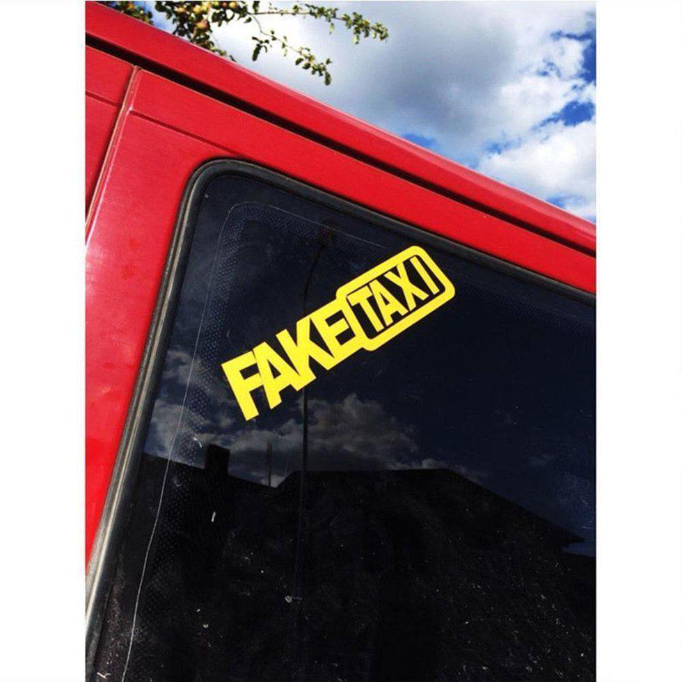 PET Styling FAKE TAXI Stickers Letters Hot Sale Fake Taxi Drift Sign Creative HO